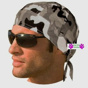 565db3c6600 GRAY Urban City Grey CAMO FITTED BANDANA Skull Cap Head Wrap Do Du ...