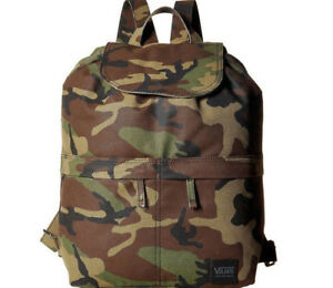 84d9cca2c8 Vans Lakeside Backpack School Bag Book Camo Camouflage Green New NWT ...