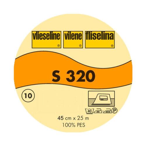 25m Vlieseline S320 Schabrackeneinlage Bügeleinlage 45cm breit