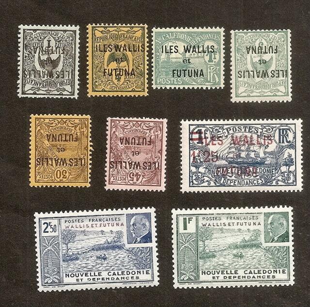 Wallis et Futuna lot dde 9 timbres neufs sans trace de charnière, superbes