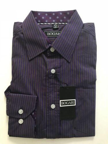 Bogari Men/'s Button Down Dress Shirt Long Sleeve Striped