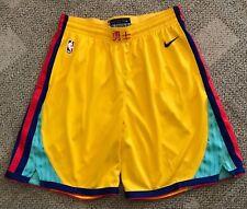 Men's Nike NBA Golden State Warriors City Ed. Swingman Shorts Small Aj1254 728