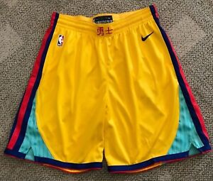 wide range cheap price reasonably priced Details about Nike NBA Golden State Warriors City Edition Swingman  Basketball Shorts Men's S