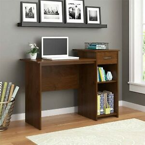 computer student desk black brown color office table laptop kids study w drawer ebay. Black Bedroom Furniture Sets. Home Design Ideas