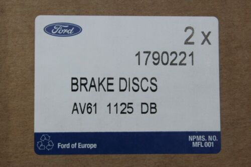 atrás Ford C-Max 59995500 balatas delantero Discos de freno original