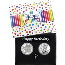 Make a Wish! Happy Birthday Silver Round & Silver American Eagle 2pc Set