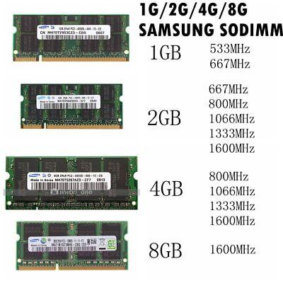 Hynix 1//2GB 4GB 8GB DDR2 DDR3 667//800MHZ 1333MHZ Sodimm Laptop Memory RAM LOT
