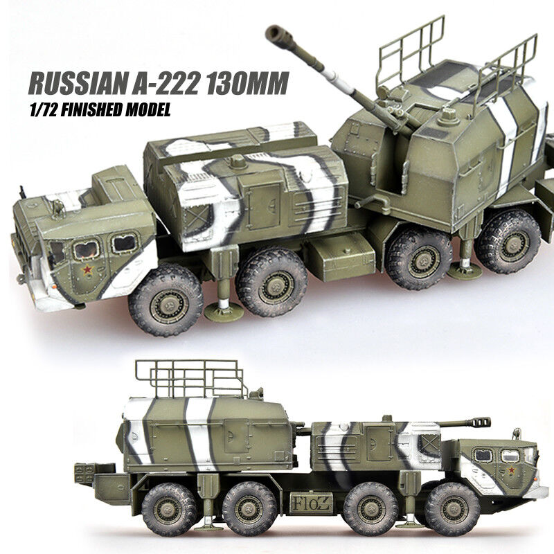 Tanque Ruso A-222 130MM 1 72 Modelo modelo diecast acabado no recoger