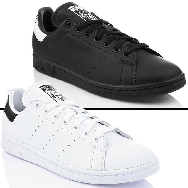 Shoes Adidas Originals Stan Smith Men's Trainers Leather White Black