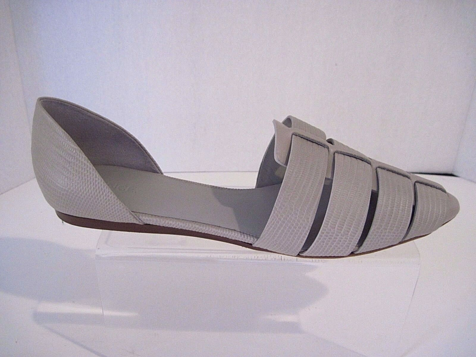 350 Vince d'Orsay Flats Reptile Embossed Taupe, Sz 39.5   9.5