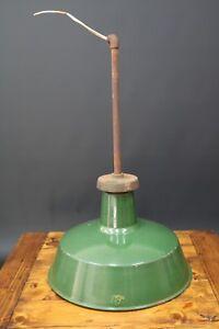 ba3942f1ac3d Vintage 1930s 40s GEC Industrial Lamp Shade Green Enamel Factory ...