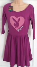 NEW - PLAYBOY, 10, purple logo long sleeved jersey skater dress