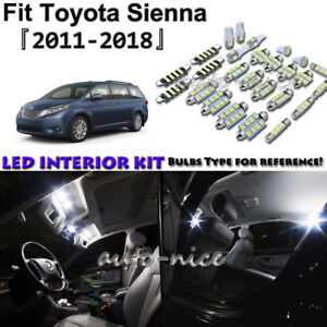Image Is Loading 19x White Led Interior Lights Package Kit For