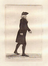 JOHN KAY Original Antique Etching.  Dr. Gregory Grant, 1799