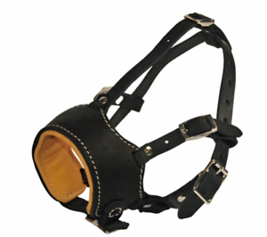 Dean & Tyler Royal Control Premium Occlusion Dog Muzzle w  Nappa Leather Lining