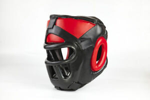 Objectif Cage Head Garde Casque Boxe Arts Martiaux Mma Kick Boxing Training-afficher Le Titre D'origine