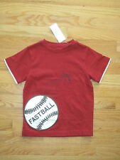 Boy GYMBOREE WHITE BASEBALL SPORTS RED shirt NWT 5