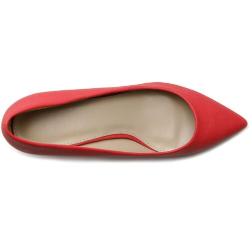 ollio Womens Shoes D/'Orsay Pointed Toe Simple Mid Heel Pumps multi-color