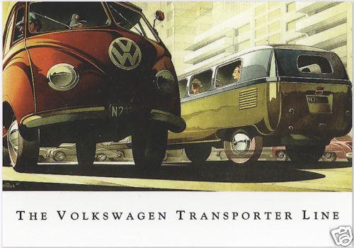 VW TRANSPORTER TYPE 2 - Collectors Card Set - Microbus Combi PickUp & Panel Van