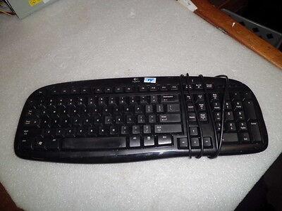 LOGITECH CLASSIC KEYBOARD 200 868017-0403 Y-UR83 BLACK USB KEYBOARD