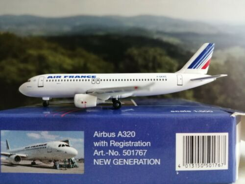 Herpa Wings 1:500 501767 air france airbus a3320 F-gkxc