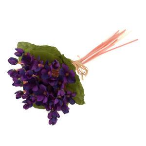 Kuenstlich-Violett-Stiele-und-Blaetter-Buendel-27cm-Lila