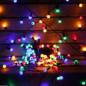 Details About 200 Led Multi Coloured Large Berry String Hanging Christmas Lights Static