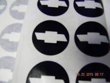 "SET OF 5  BLACK  CHEVROLET BOWTIE WHEEL/ RIM VINYL CENTER CAP LOGO DECALS 1.45"""
