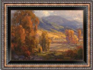 "Hand painted Original Oil Painting art Landscape tree on canvas 24""x36"""