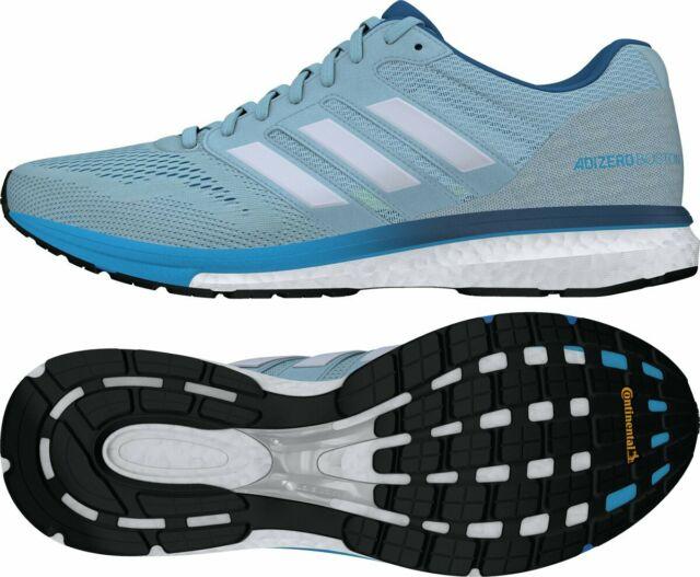 NEW Adidas AdiZero Boston 7 M Men's Running Shoe Size 9.5 Grey Blue White B37380