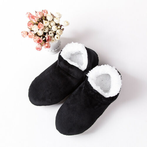 Mens Winter Home Thicken House Bed Sock Non Slip Plush Slippers Floor Socks