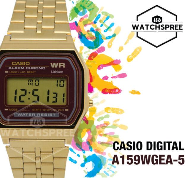 Casio Digital Watch A159WGEA-5D AU FAST & FREE