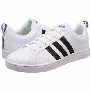 separation shoes b9429 08757 Image is loading ADIDAS-VS-ADVANTAGE-LEATHER-LOW-SNEAKERS-MEN-SHOES-