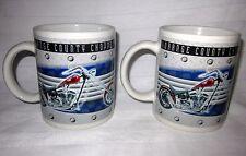 ORANGE COUNTY CHOPPERS 2005 10 OZ PAIR SET OF 2 MATCHING MOTOR CYCLE COFFEE MUGS