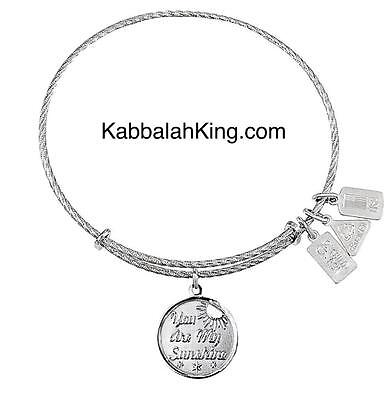 Wind /& Fire Sterling Silver In My Heart Forever Charm Expandable Bangle Bracelet