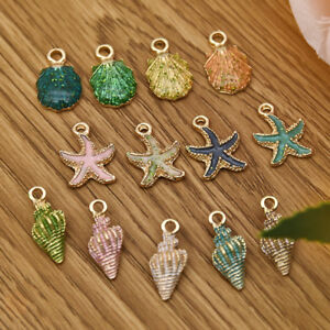 13Pcs-Enamel-Conch-Sea-Shell-Pendant-Charms-Handmade-Jewelry-Making-DIY-Findings
