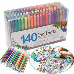 20Pcs Colored Gel Pen Refill School Drawing Doodle Ballpoint Highlighter
