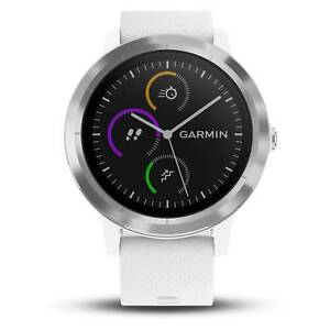 8b45396ab Garmin vivoactive 3 White with Stainless Steel Hardware GPS Smartwatch