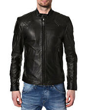 DIESEL LALETA BLACK LEATHER JACKET SIZE M 100% AUTHENTIC