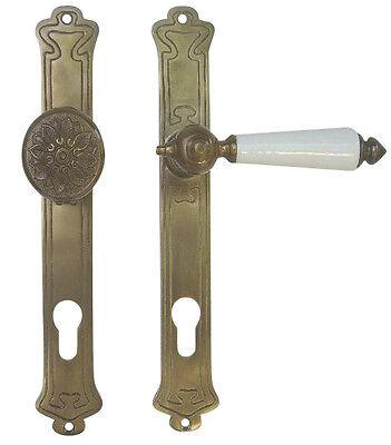 Jugendstil Art Deco Haustürbeschlag Messing antik #29-2-15AW
