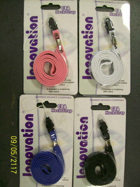 Game Boy Advance SP Lanyard GBA Neck Strap Choose1 Fuchsia Indigo Arctic Glacier