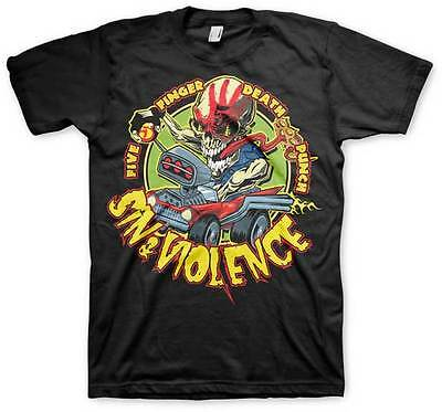 FIVE FINGER DEATH PUNCH - Sin & Violence (5FDP):T-shirt - NEW - XLARGE ONLY