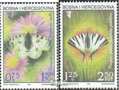 BosniaHerzegovina 259260 mint never hinged mnh 2002 Butterflies