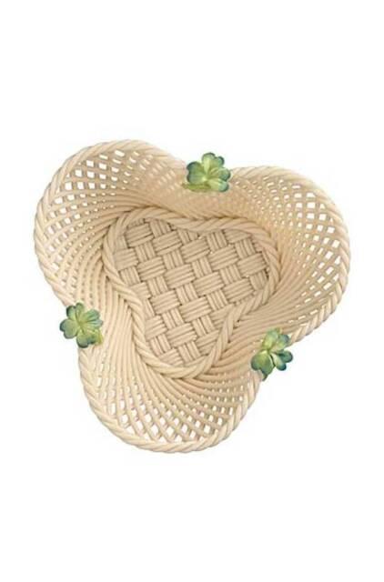 Belleek Four Leaf Clover Basket