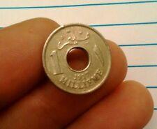 Egipto 1917 H 1 Millieme AH1335 de alto grado Hussein Kamel Km # 313 moneda de Medio Oriente