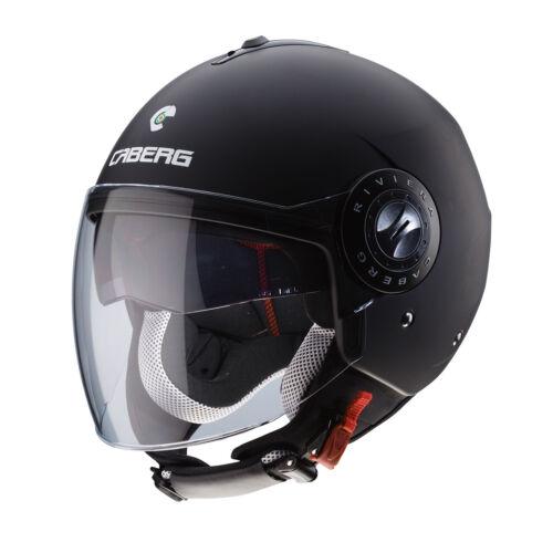 Casco Caberg Jet Riviera V3 Matt Black Con Doppia Visiera