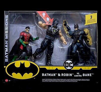 Bane Figures 3 Pack Batman missions Batman /& Robin vs