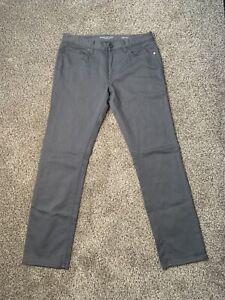 Banana Republic The Traveler Mens 33x32 Slim Fit Gray Stretch Denim Pants Jeans