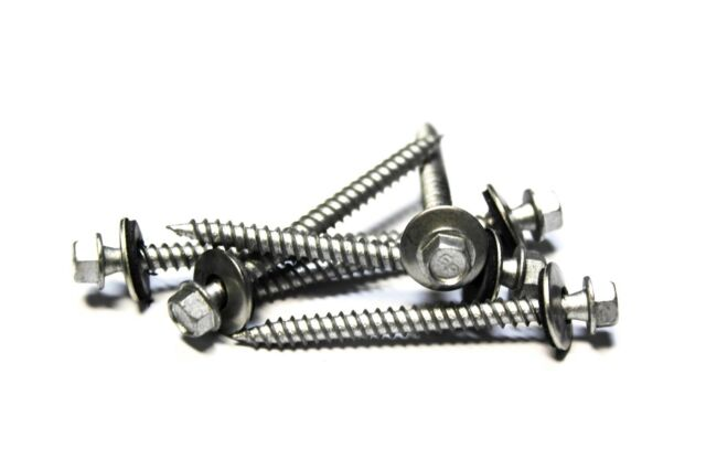 500 9x2 Hex Head Roofing Screws With Neoprene Washer