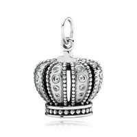 Authentic Pandora Charm Crown Cubic Zirconia 390346cz Pendant Box Included
